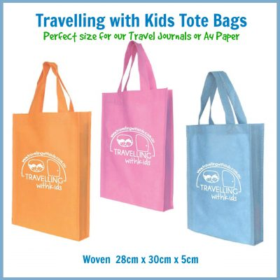 Travelling with Kids Tote Bags