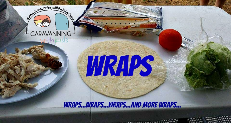 Wraps….Wraps…and more Wraps for lunch…