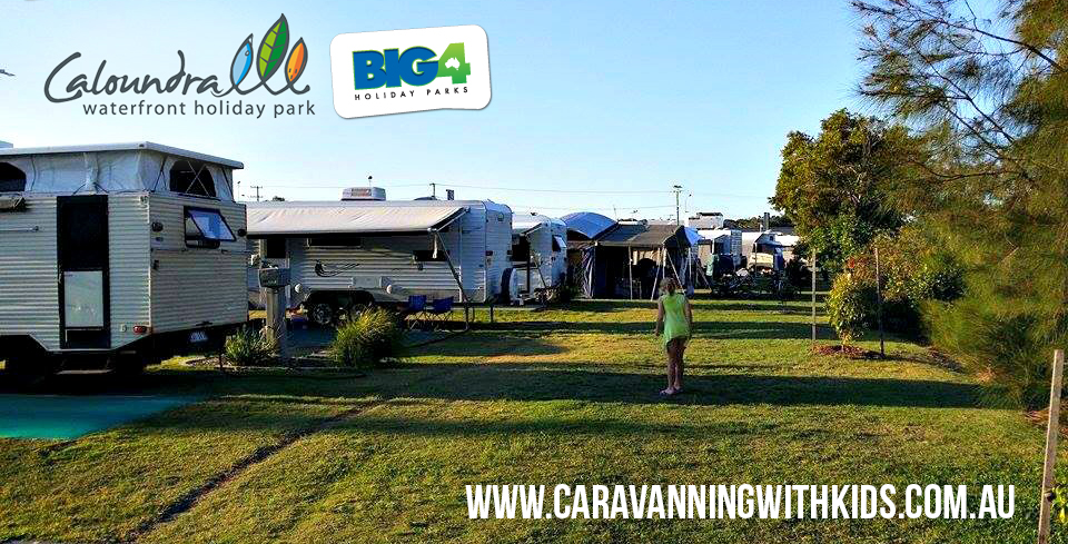 The Caravanning with Kids family review Caloundra Waterfront Holiday Park