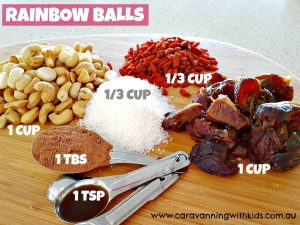 Rainbow balls ingredients