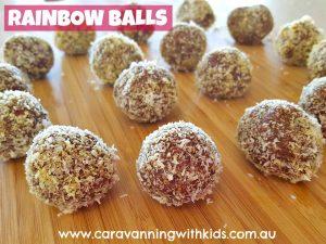 rainbow balls finished
