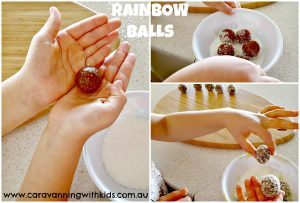 rainbow balls making