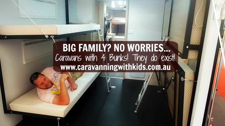 Caravans for more than 3 children…YES, they do exist!
