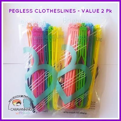 pegless clotheslines 2 pack rainbow