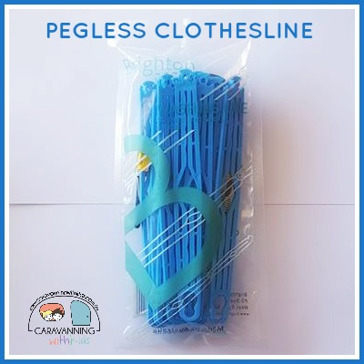 pegless clotheslines blue
