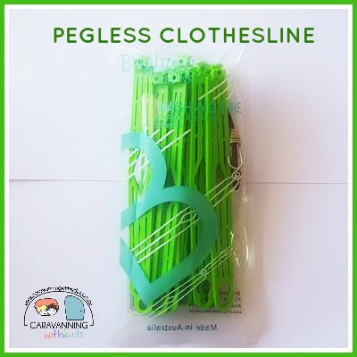 pegless clotheslines green
