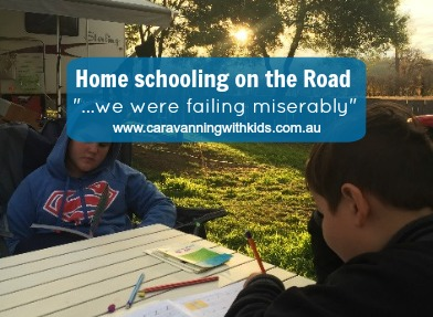 "Home Schooling on the road ""…we were failing miserably"""