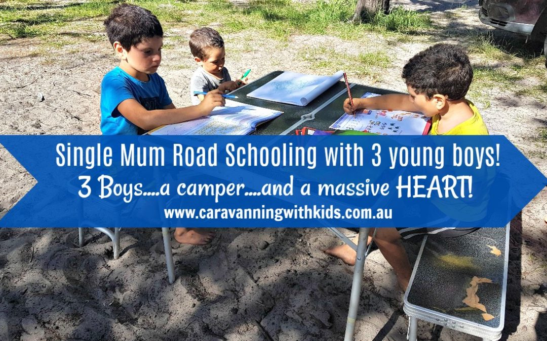 Single Mum Road Schooling with three boys under 8!