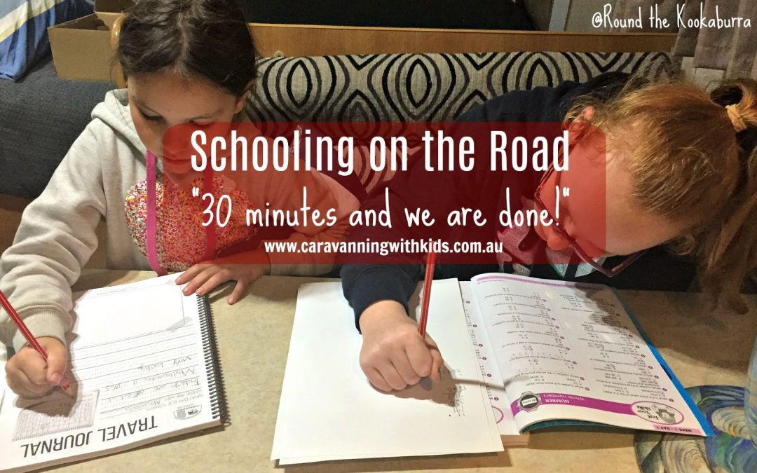 Schooling on the road – 30 minutes and we are done!