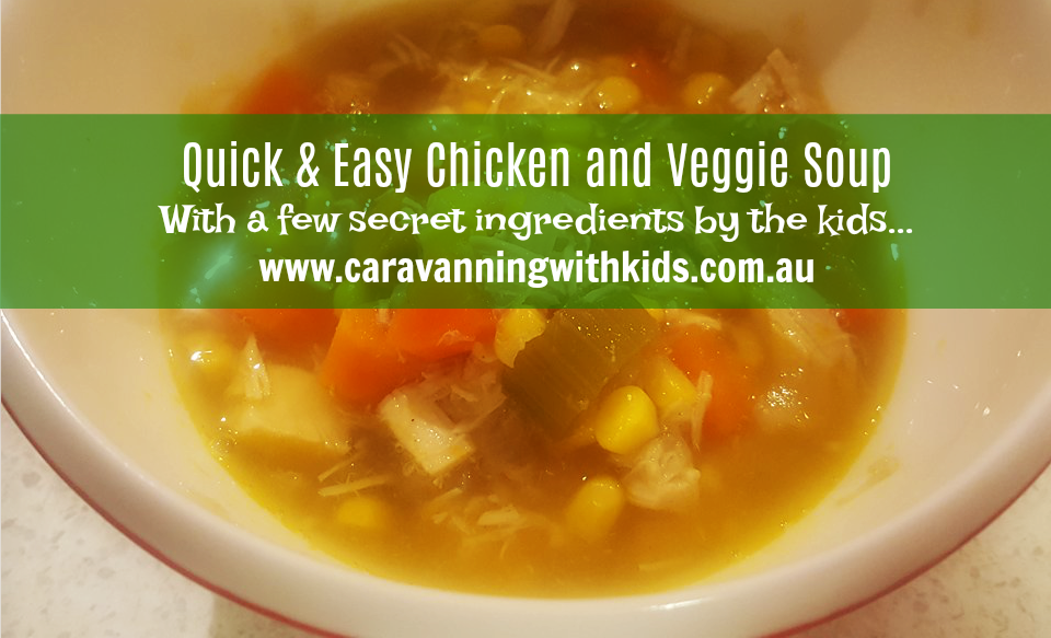 Chicken & Veggie Soup – Delicious and Easy!