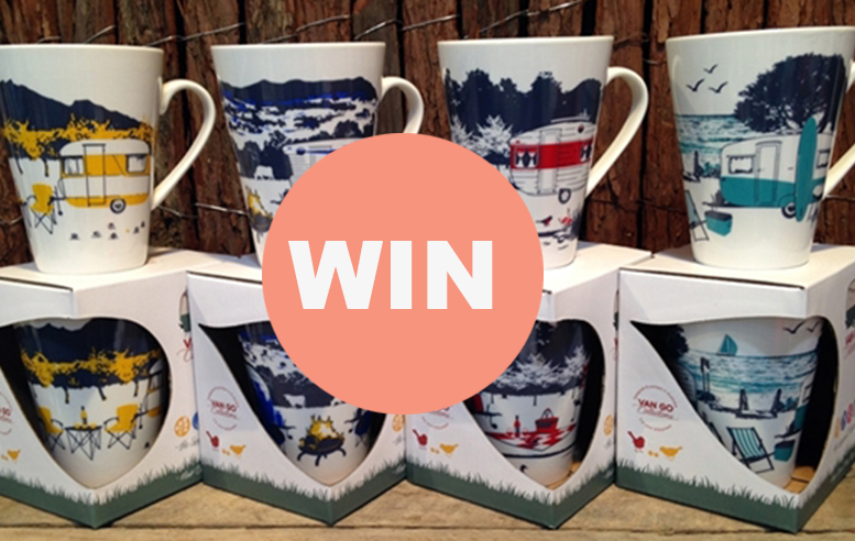FINISHED! WIN a set of 4 Caravan & Camping Bone China Mugs