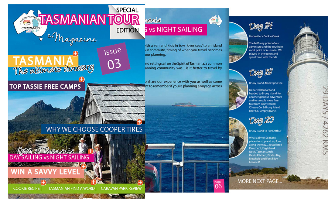 Caravanning with Kids e-Magazine – Tasmania the Ultimate Itinerary