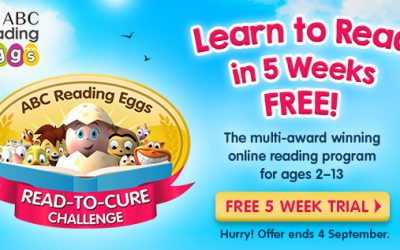 Learn to Read in 5 Weeks in the Read-To-Cure Challenge