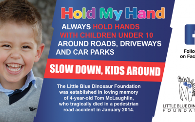 """Little Blue Dinosaur 