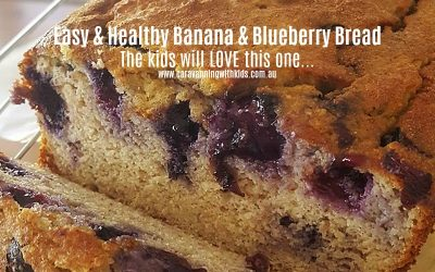 Easy & Healthy Banana & Blueberry Bread