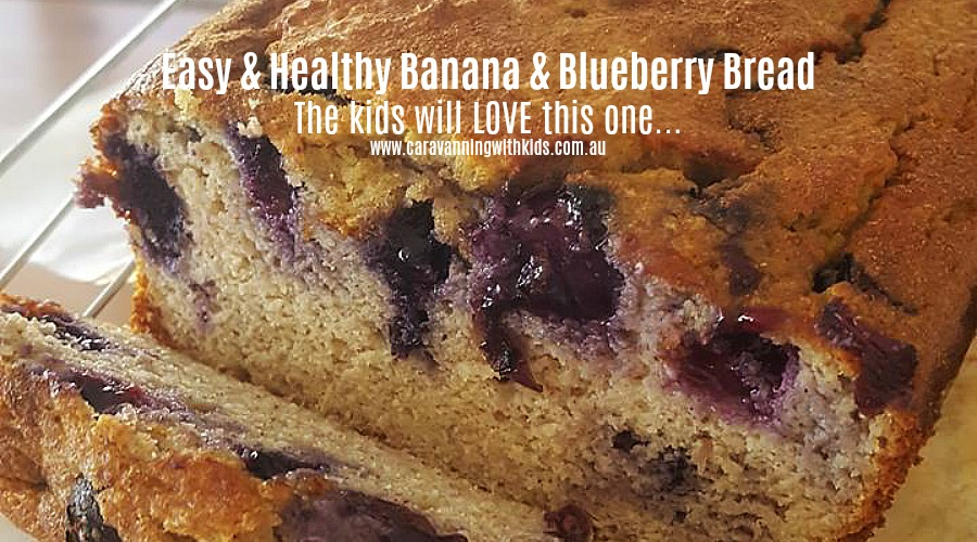 Easy & Healthy Banana & Blueberry Bread