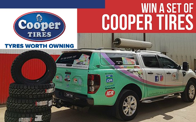 WIN a set (4) of Cooper Tires to the value of $1,800!