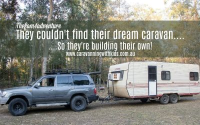 They couldn't find their dream caravan, so they're building their own…