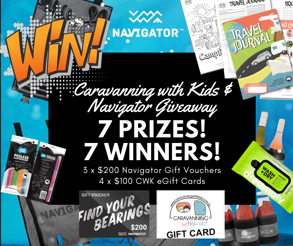 FINISHED: Caravanning with Kids & Navigator GIVEAWAY