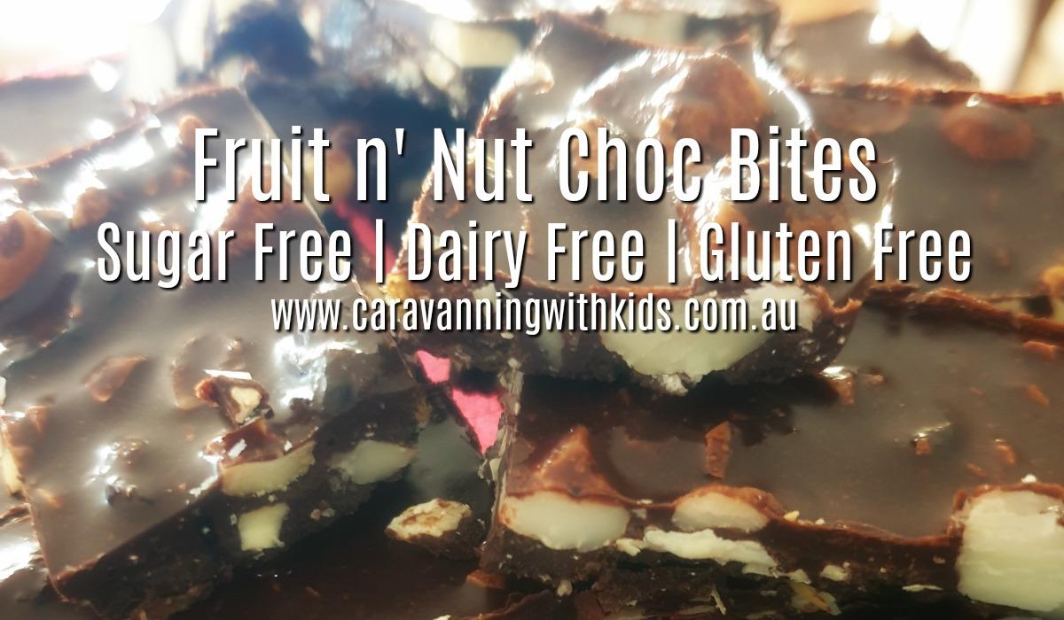 Fruit n' Nut Choc Bites | Sugar, Dairy & Gluten FREE!