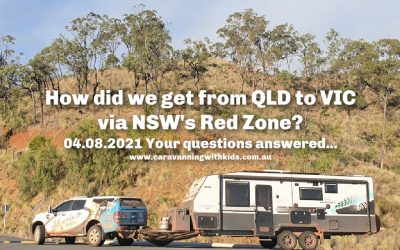 How did we get from Qld to Vic via NSW's Red Zone during Covid?